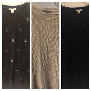 Lot of 3 Sweaters - S - GAP Old Navy